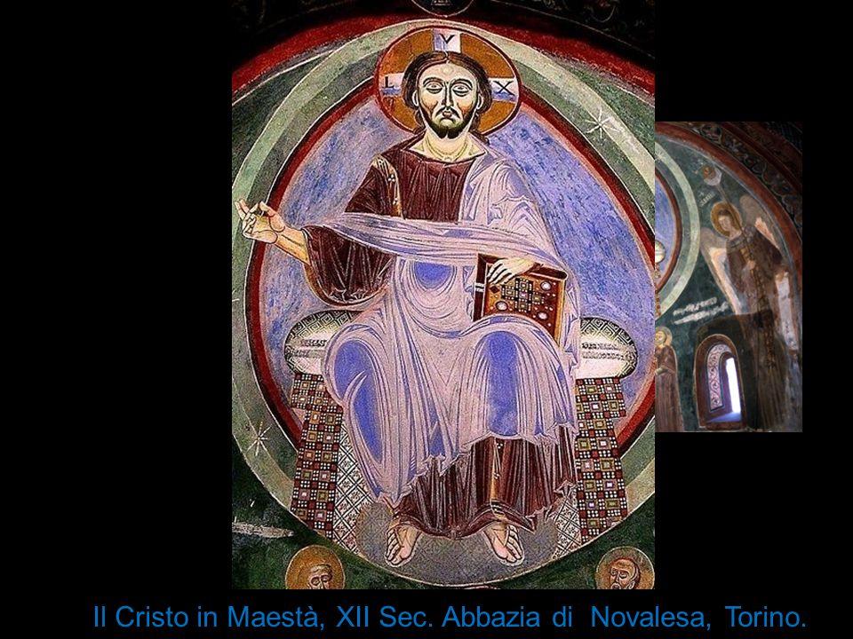 Il Cristo in Maestà, XII Sec. Abbazia di Novalesa, Torino.