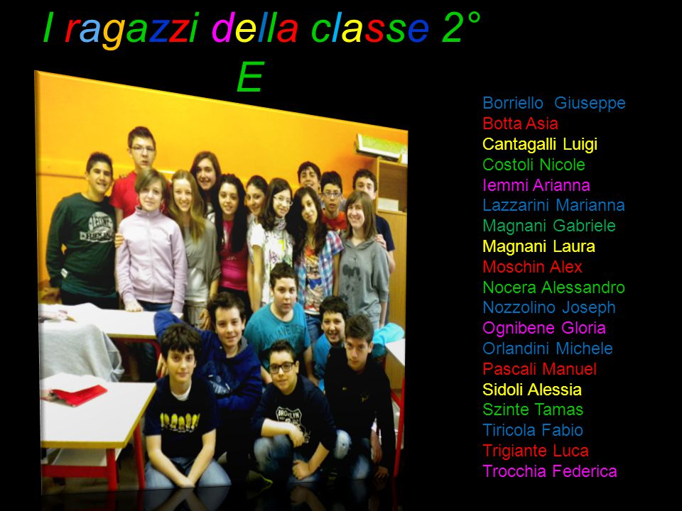 I ragazzi della classe 2° E