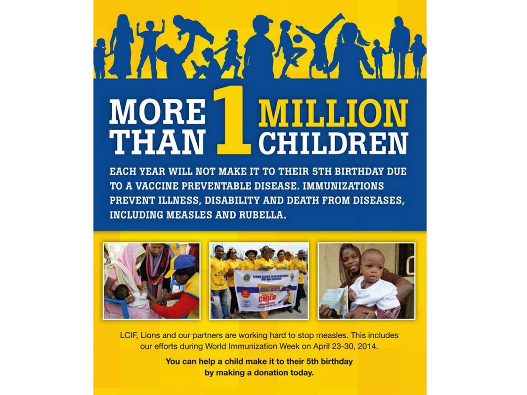 Più di 1 milione di bambini ogni anno non festeggerà il quinto compleanno a causa di una malattia che si può prevenire con un vaccino.