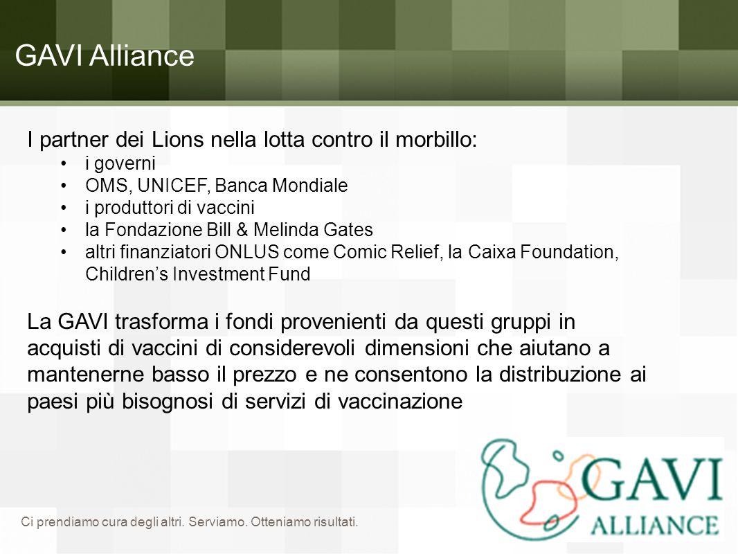 GAVI Alliance I partner dei Lions nella lotta contro il morbillo: