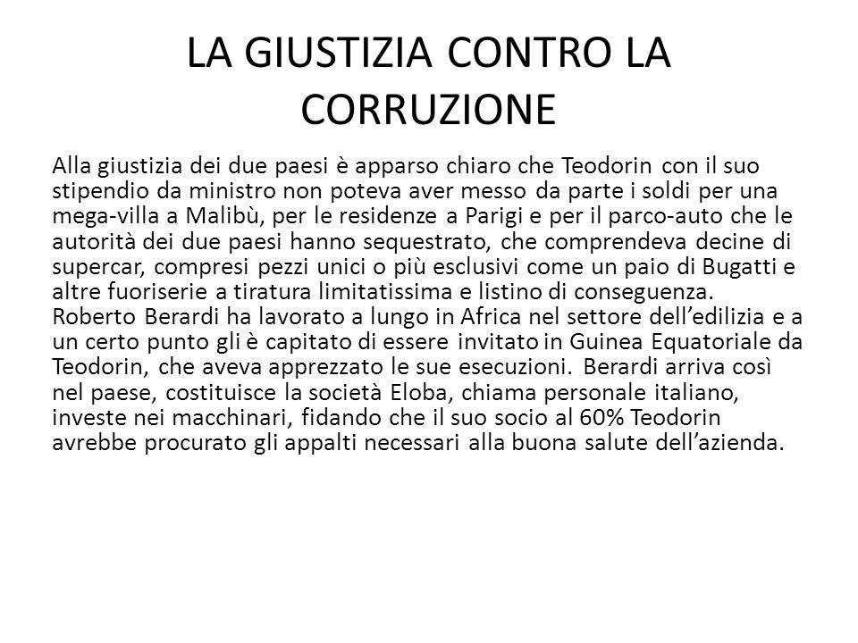 LA GIUSTIZIA CONTRO LA CORRUZIONE