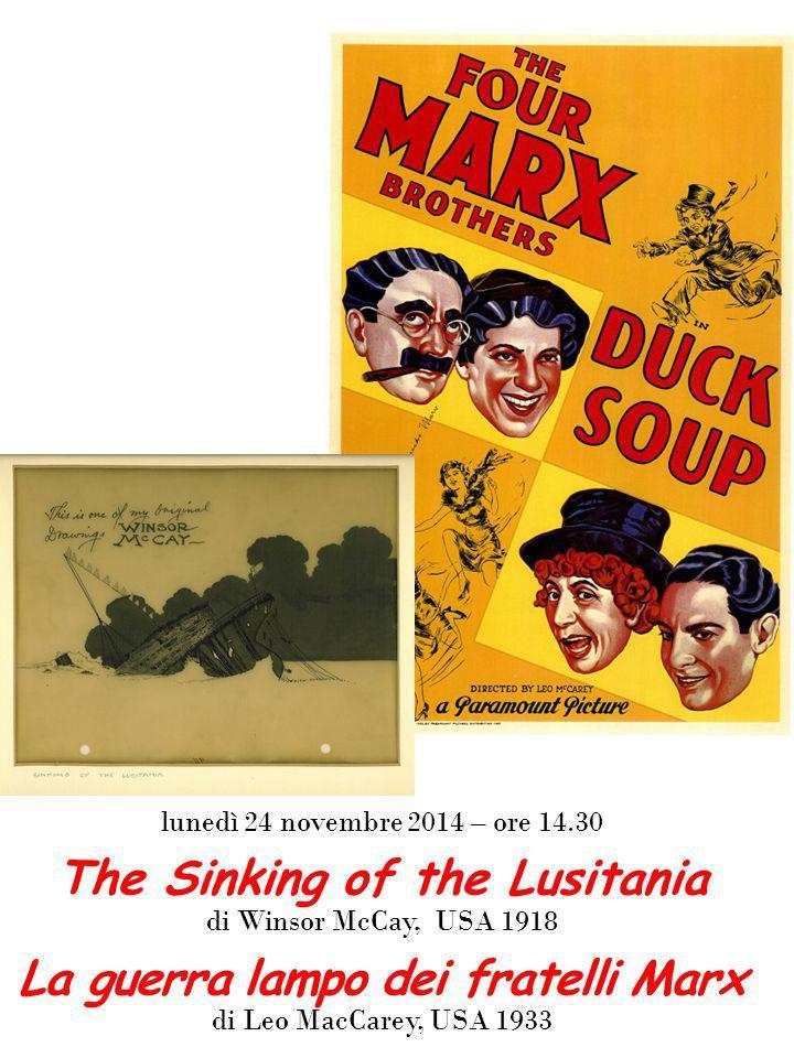 The Sinking of the Lusitania La guerra lampo dei fratelli Marx