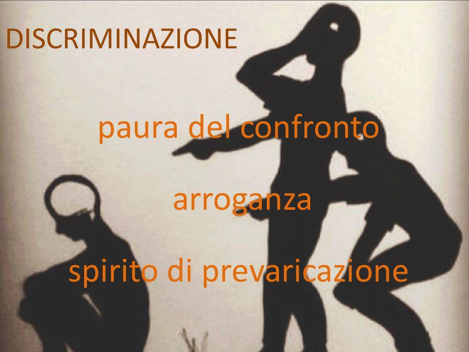 paura del confronto arroganza spirito di prevaricazione