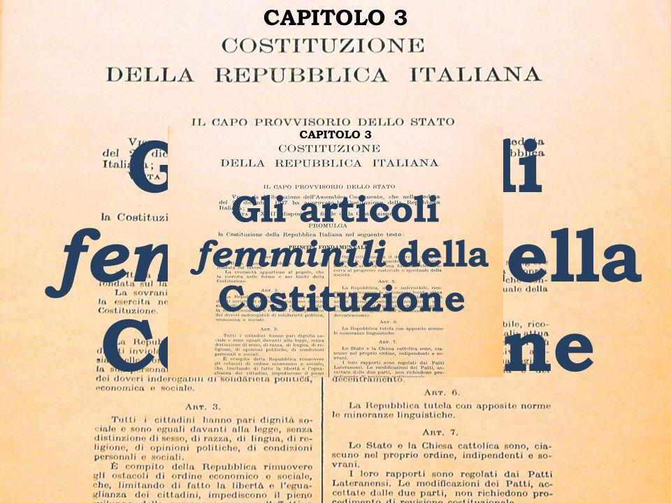 Gli articoli femminili della Costituzione
