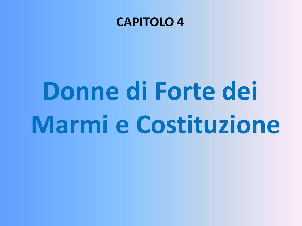 Donne di Forte dei Marmi e Costituzione