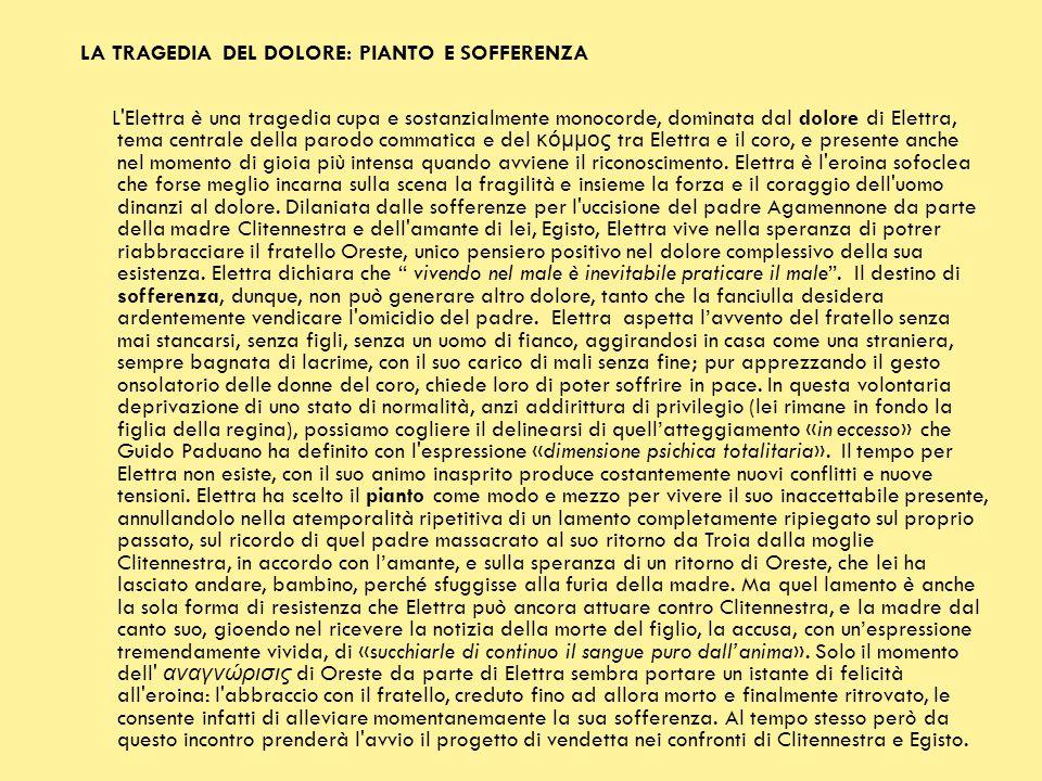 LA TRAGEDIA DEL DOLORE: PIANTO E SOFFERENZA
