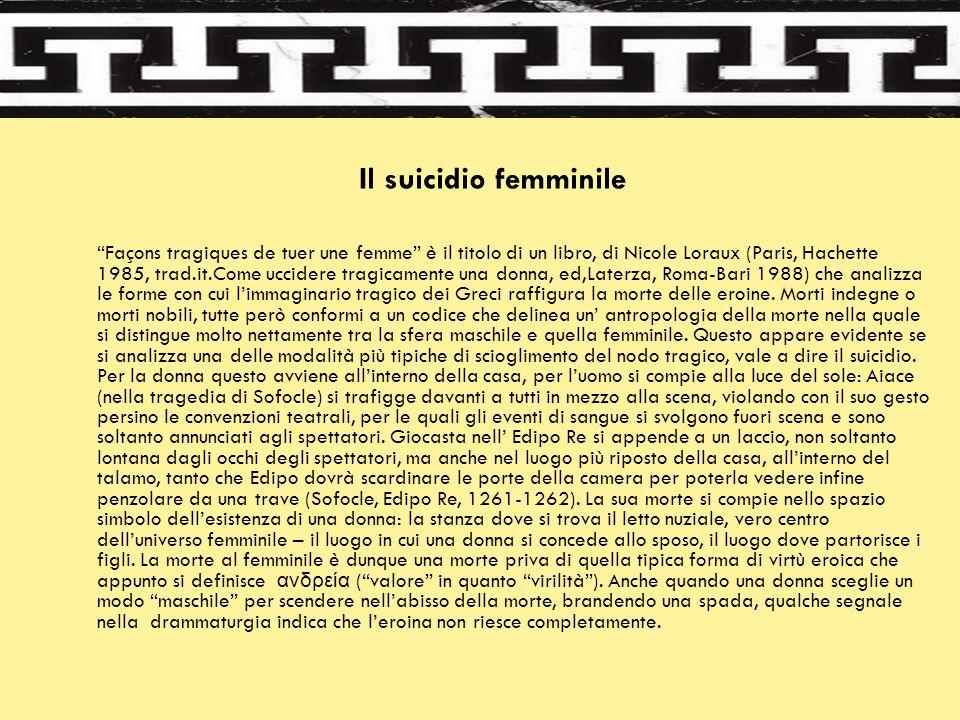 Il suicidio femminile