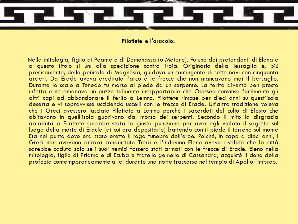 Filottete e l oracolo: