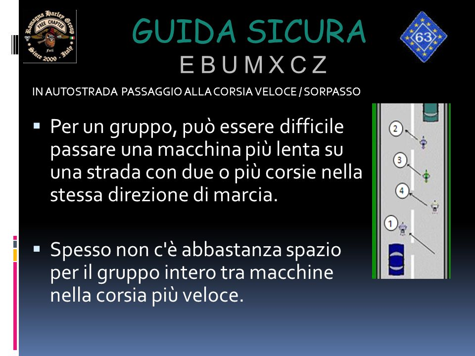 Guida sicura e b u m x c z IN AUTOSTRADA PASSAGGIO ALLA CORSIA VELOCE / SORPASSO.