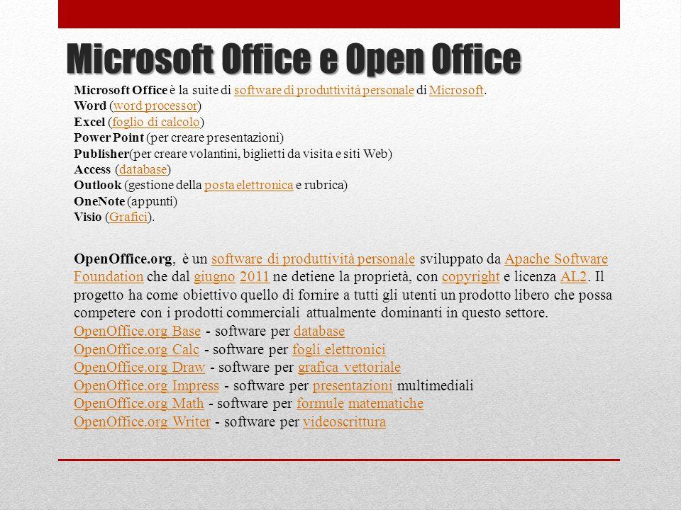 Microsoft Office e Open Office
