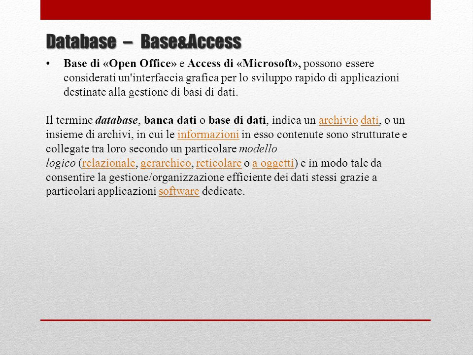 Database – Base&Access
