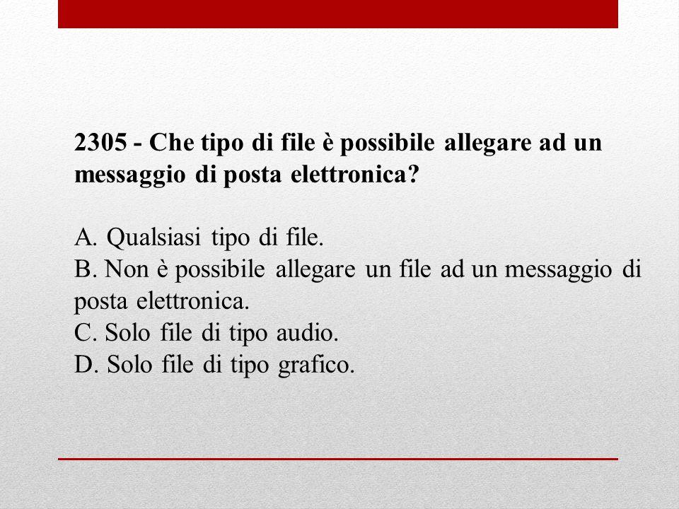 2305 - Che tipo di file è possibile allegare ad un messaggio di posta elettronica