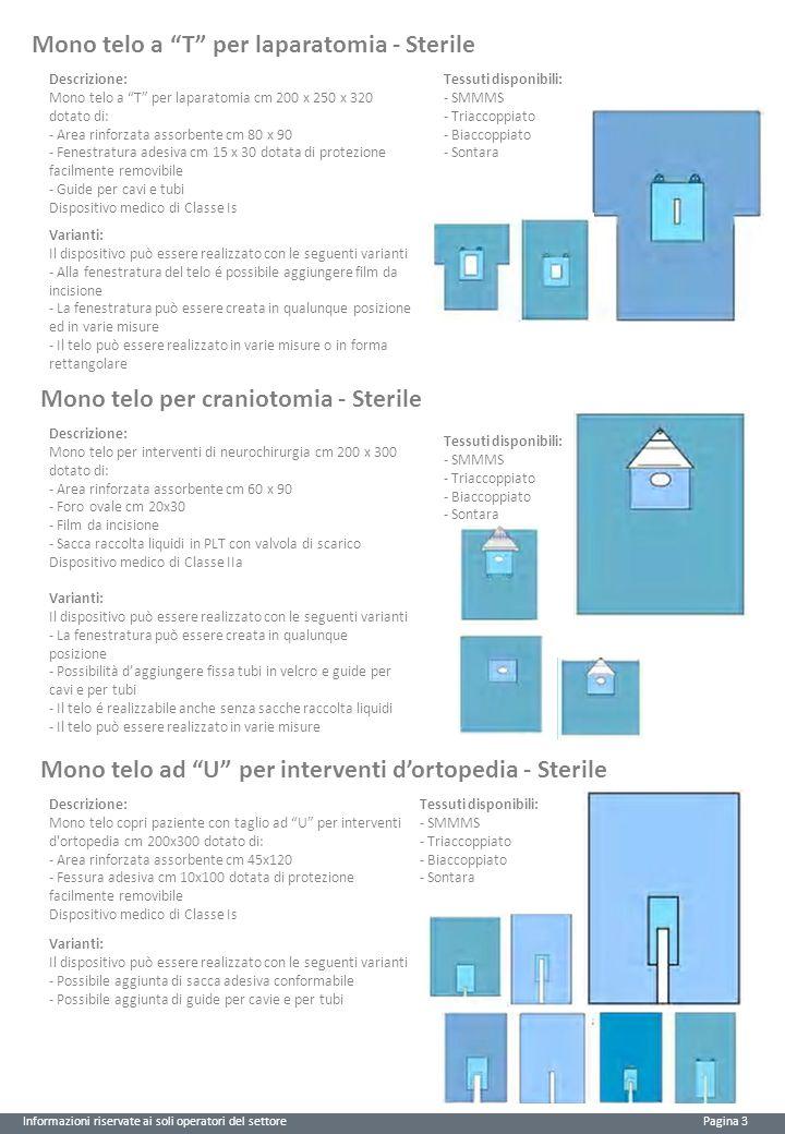 Mono telo a T per laparatomia - Sterile