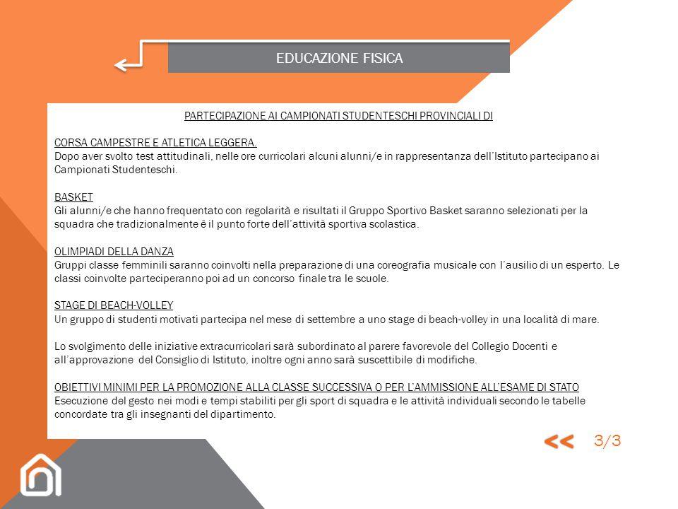 PARTECIPAZIONE AI CAMPIONATI STUDENTESCHI PROVINCIALI DI
