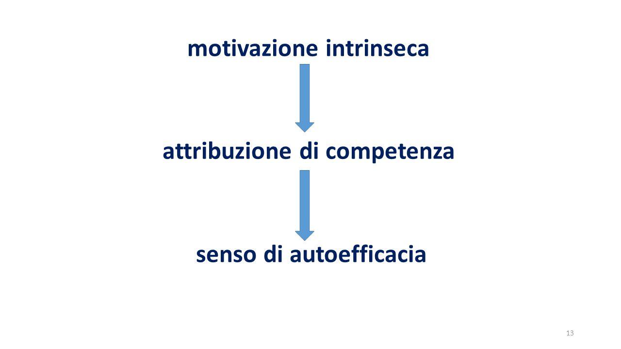 motivazione intrinseca attribuzione di competenza senso di autoefficacia