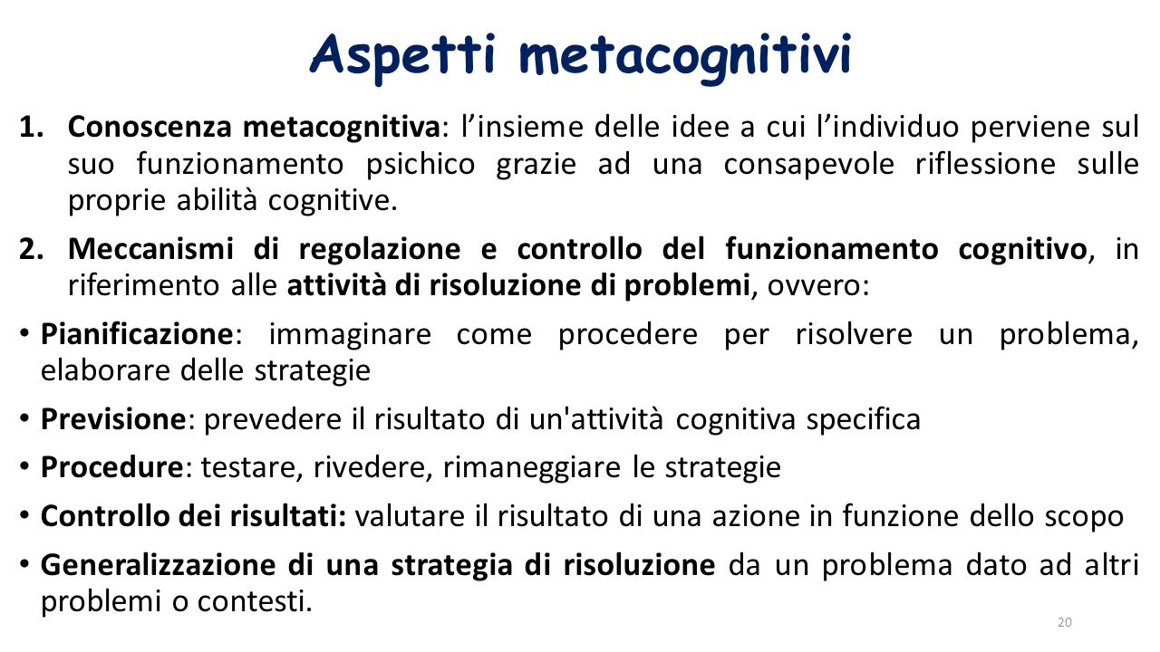 Aspetti metacognitivi