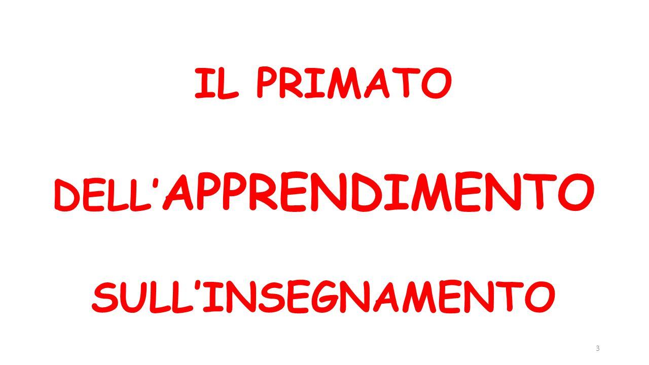 IL PRIMATO DELL'APPRENDIMENTO SULL'INSEGNAMENTO