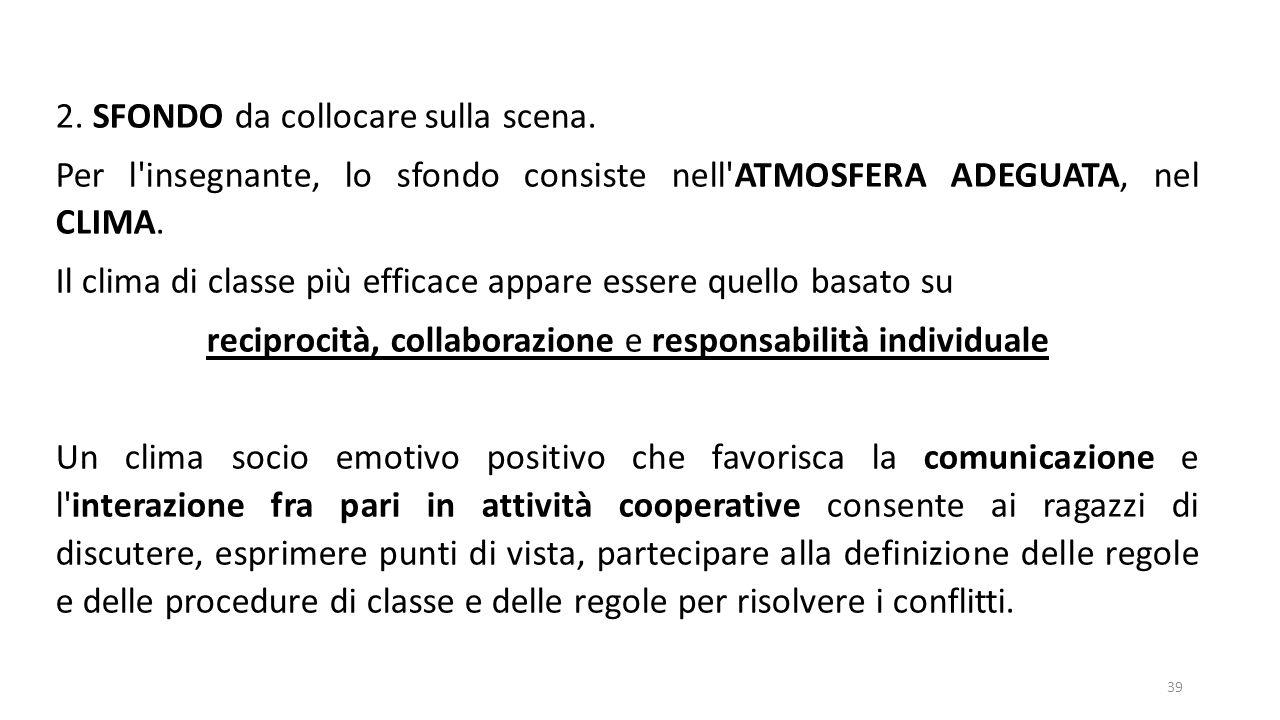 reciprocità, collaborazione e responsabilità individuale