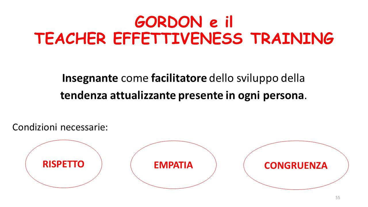 GORDON e il TEACHER EFFETTIVENESS TRAINING