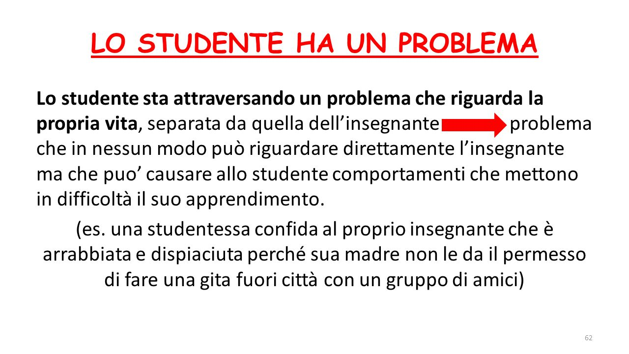 LO STUDENTE HA UN PROBLEMA