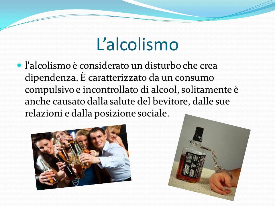 L'alcolismo