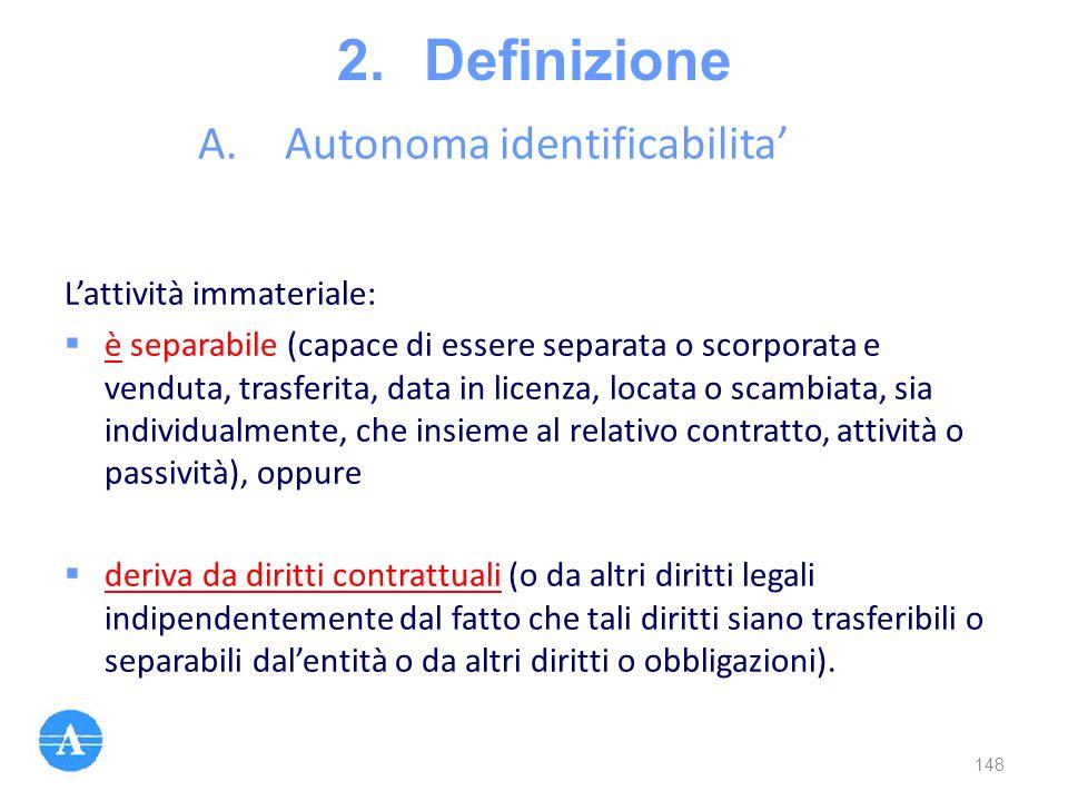 Autonoma identificabilita'