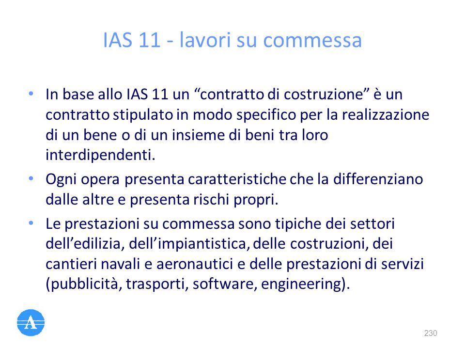 IAS 11 - lavori su commessa