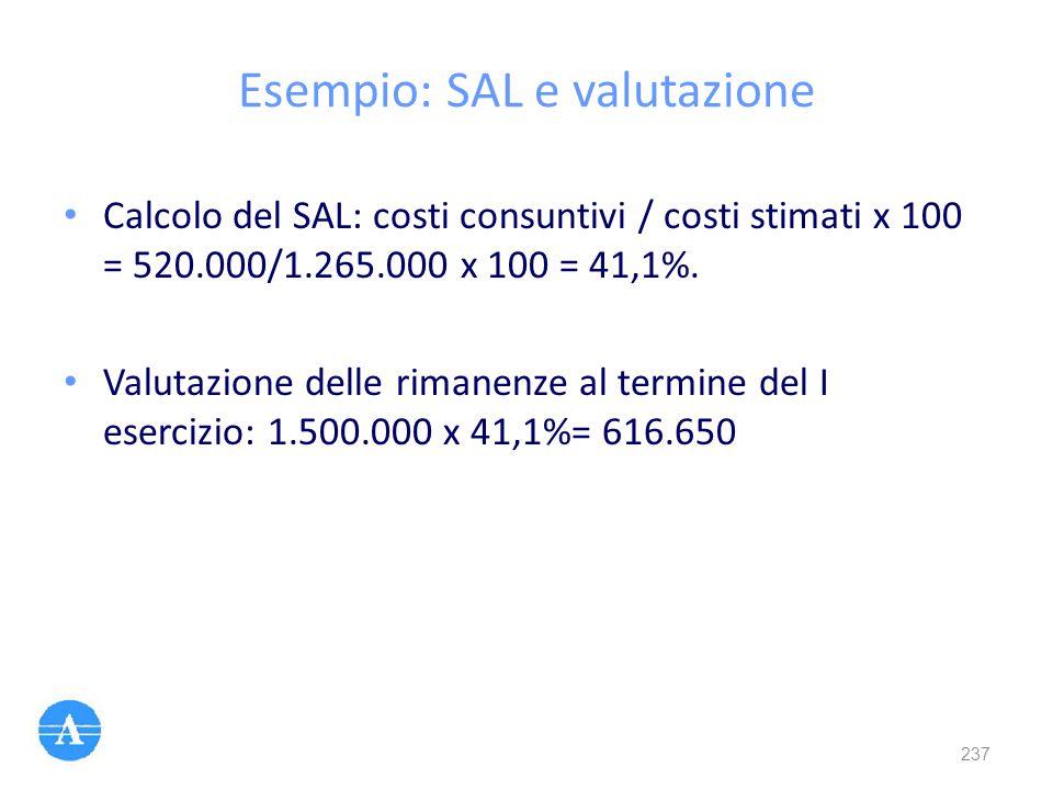 Esempio: SAL e valutazione