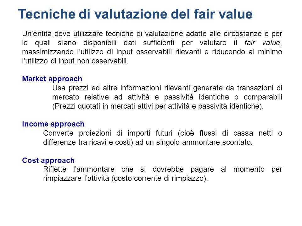 Tecniche di valutazione del fair value