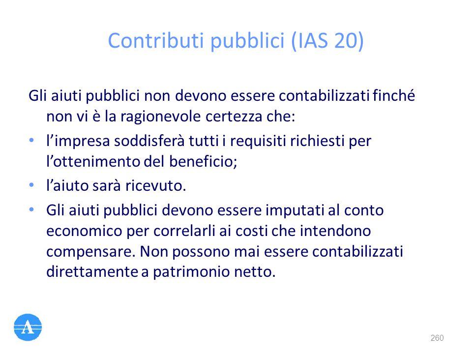 Contributi pubblici (IAS 20)