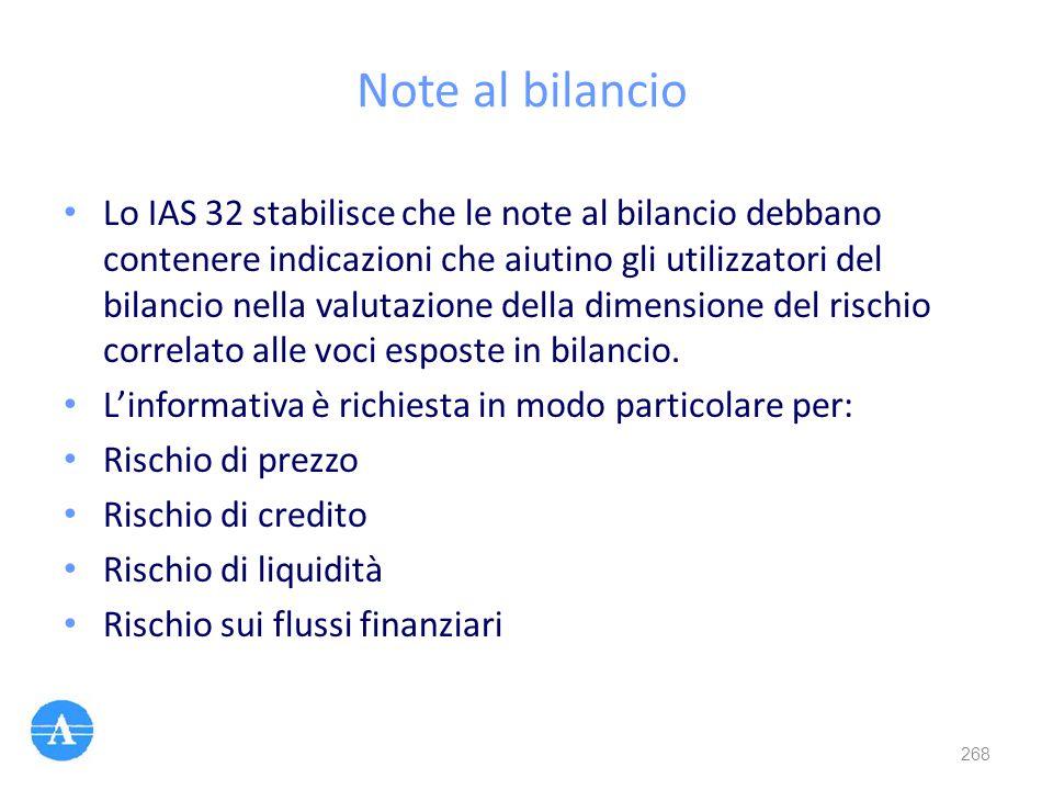 Note al bilancio