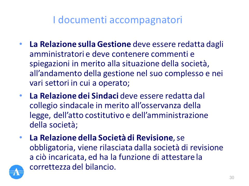 I documenti accompagnatori