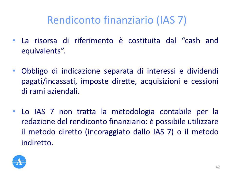 Rendiconto finanziario (IAS 7)