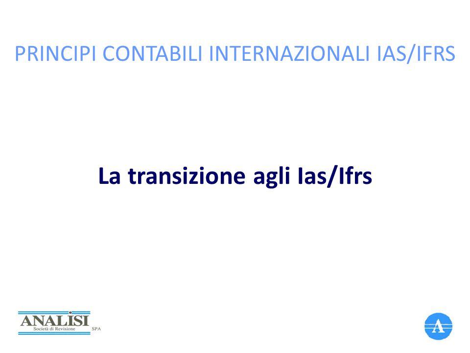 PRINCIPI CONTABILI INTERNAZIONALI IAS/IFRS