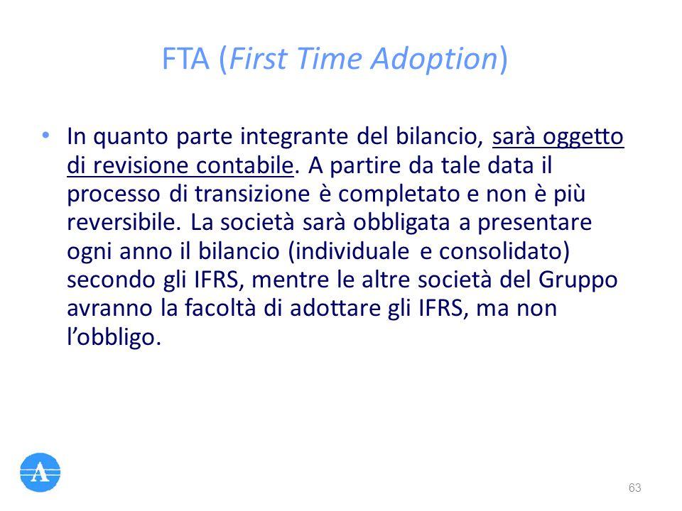 FTA (First Time Adoption)
