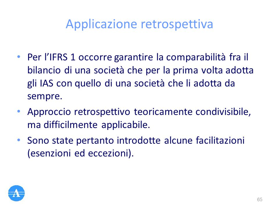 Applicazione retrospettiva
