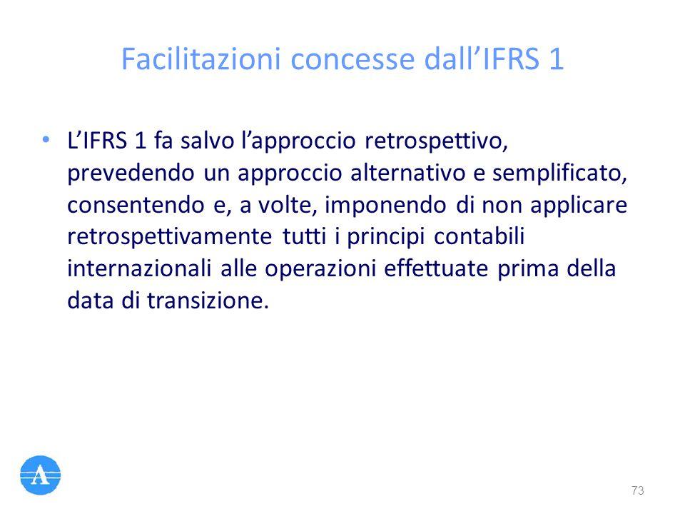 Facilitazioni concesse dall'IFRS 1