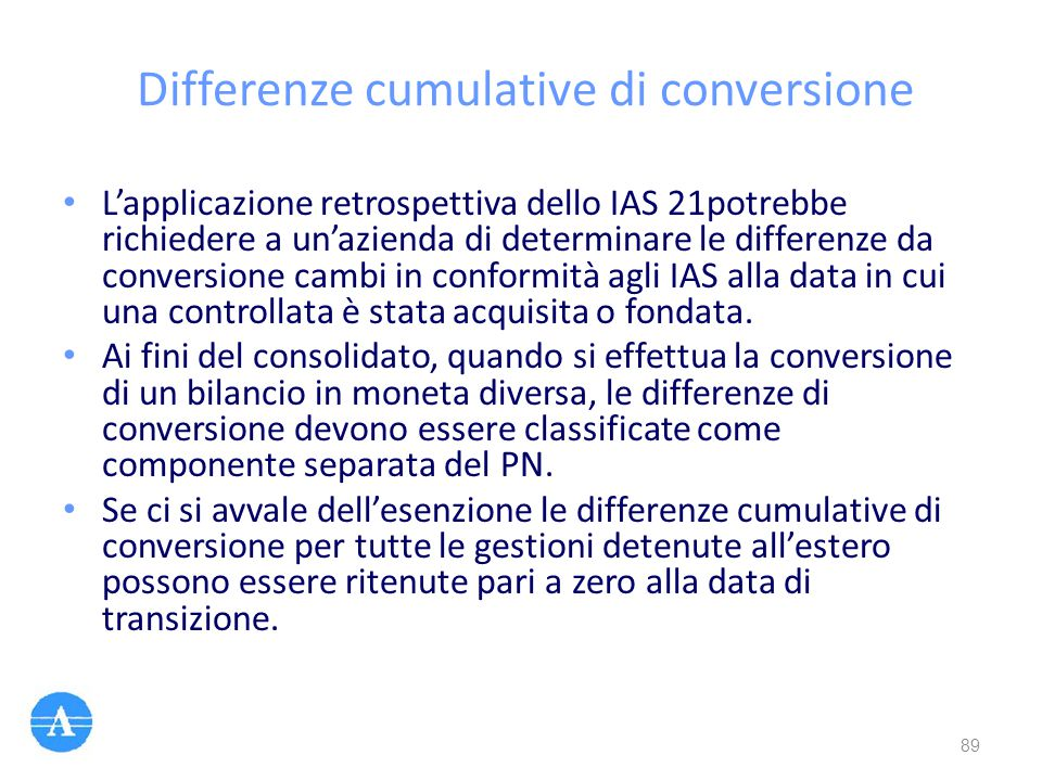 Differenze cumulative di conversione