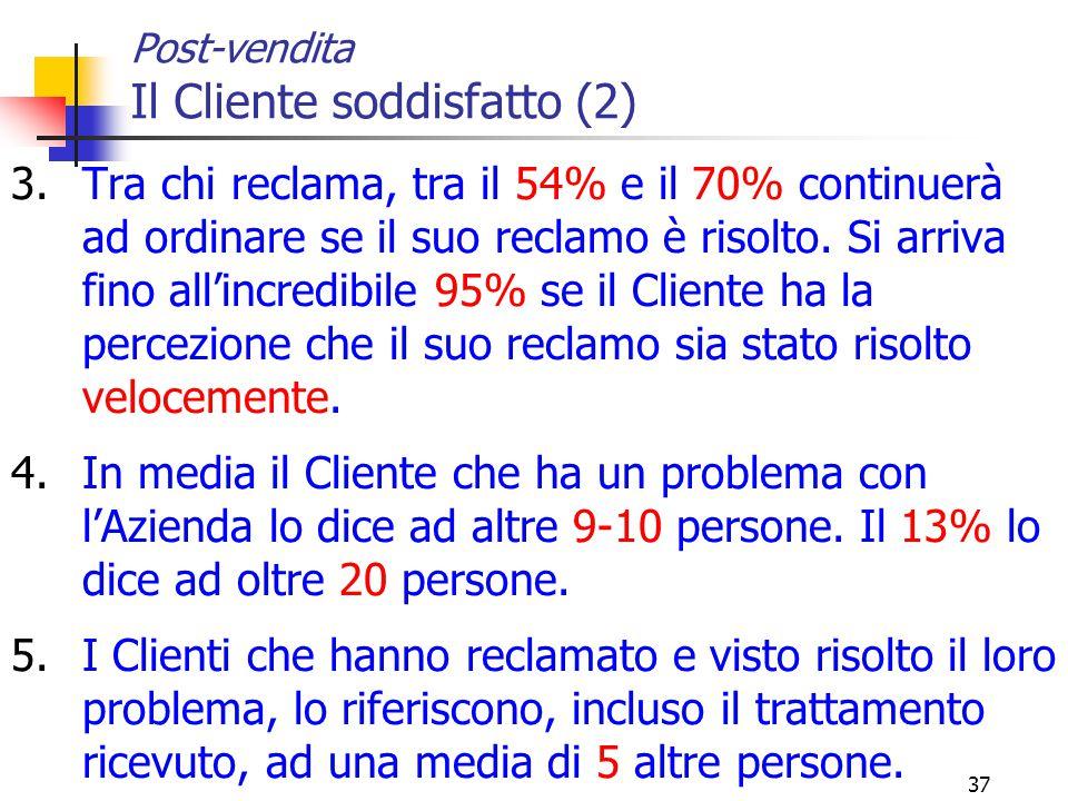 Post-vendita Il Cliente soddisfatto (2)