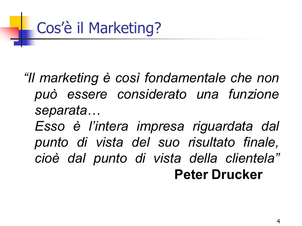 Cos'è il Marketing