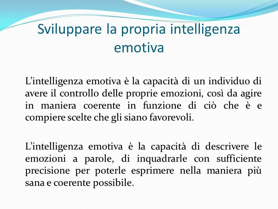 Sviluppare la propria intelligenza emotiva