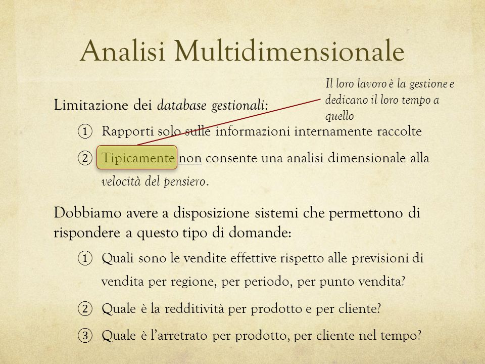 Analisi Multidimensionale