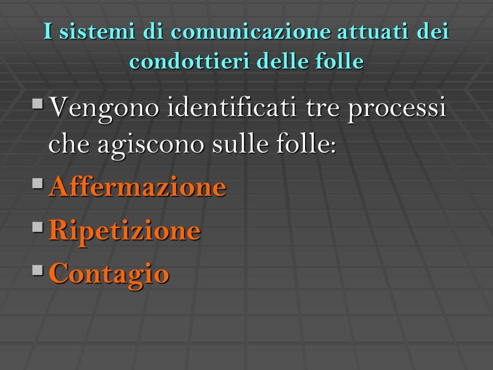 I sistemi di comunicazione attuati dei condottieri delle folle