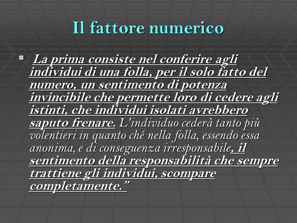 Il fattore numerico