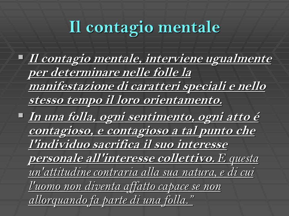 Il contagio mentale