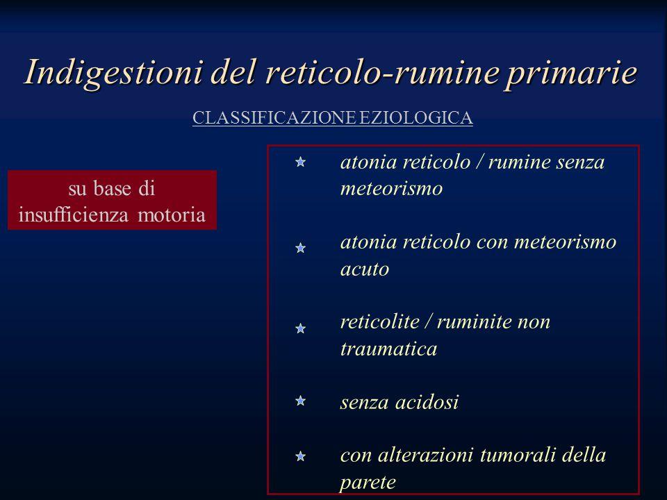 Indigestioni del reticolo-rumine primarie