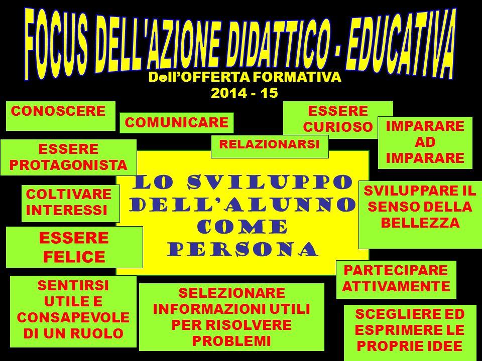 FOCUS DELL AZIONE DIDATTICO - EDUCATIVA