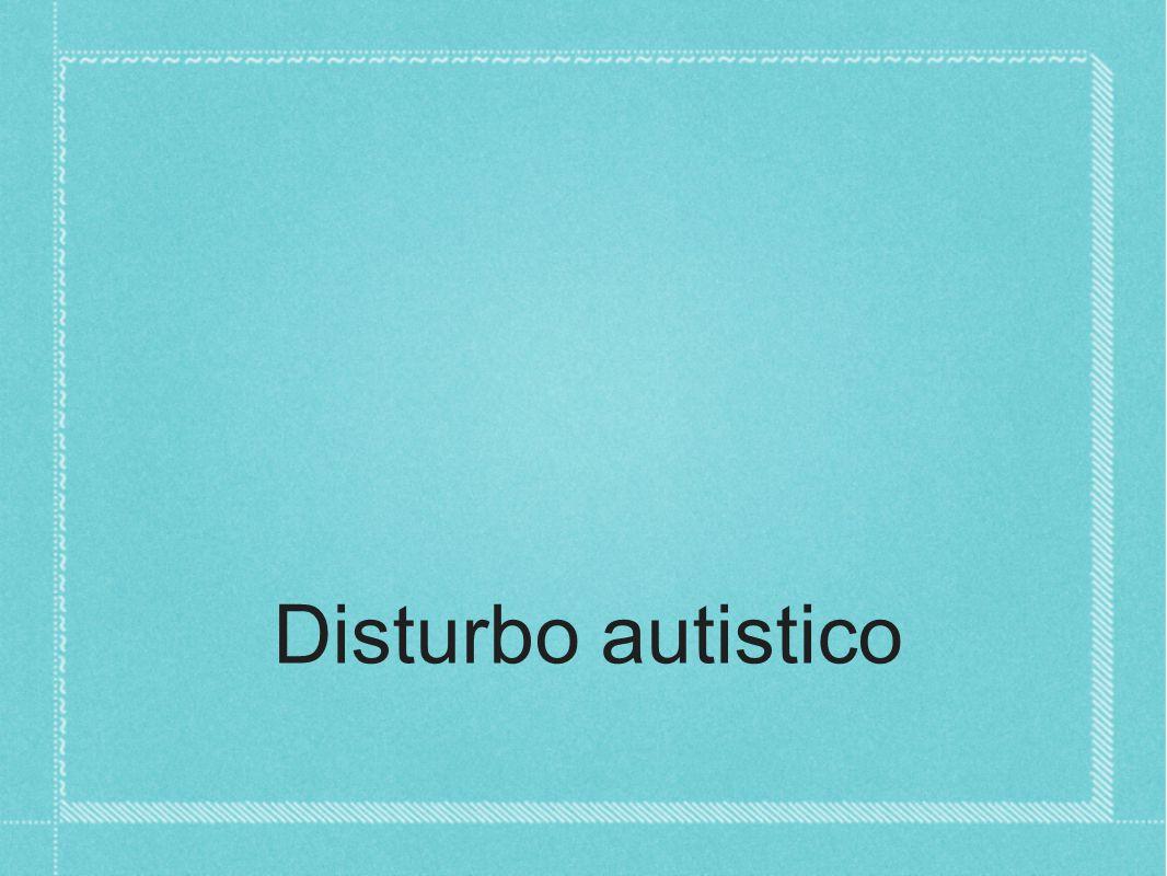 Disturbo autistico