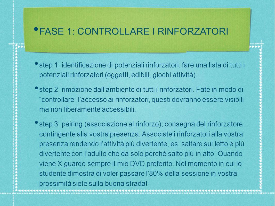 FASE 1: CONTROLLARE I RINFORZATORI