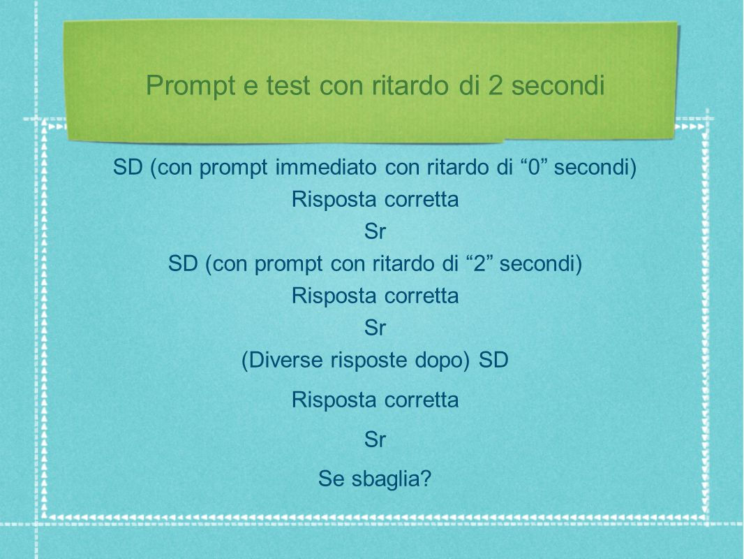 Prompt e test con ritardo di 2 secondi